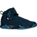 Right view of Men's Jordan True Flight Basketball Shoes in Obsidian/Ocean Fog