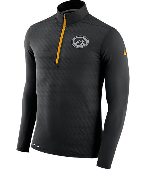 Men's Nike Iowa Hawkeyes College Dry Element Quarter-Zip Jacket