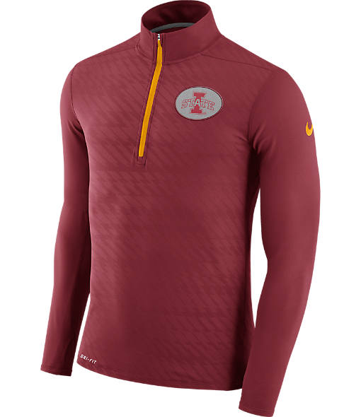 Men's Nike Iowa State Cyclones College Dry Element Quarter-Zip Jacket