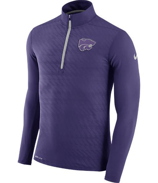 Men's Nike Kansas State Wildcats College Dry Element Quarter-Zip Jacket
