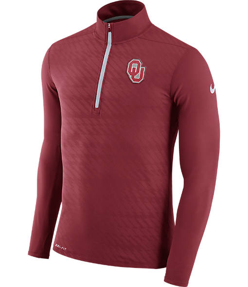Men's Nike Oklahoma Sooners College Dry Element Quarter-Zip Jacket