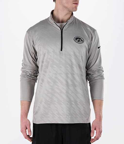 Men's Nike Iowa Hawkeyes College Dry Element Quarter-Zip Jacket