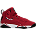 Right view of Boys' Grade School Jordan True Flight Basketball Shoes in Gym Red/Black-White-Black