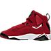 Left view of Boys' Grade School Jordan True Flight Basketball Shoes in Gym Red/Black-White-Black