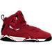 Right view of Boys' Preschool Jordan True Flight Basketball Shoes in Gym Red/Black-White-Black