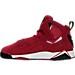 Left view of Boys' Preschool Jordan True Flight Basketball Shoes in Gym Red/Black-White-Black