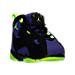 Three Quarter view of Boys' Toddler Jordan True Flight Basketball Shoes in Black/Electric Green/Concord