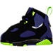 Left view of Boys' Toddler Jordan True Flight Basketball Shoes in Black/Electric Green/Concord