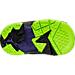 Bottom view of Boys' Toddler Jordan True Flight Basketball Shoes in Black/Electric Green/Concord