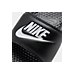 Front view of Men's Nike Benassi JDI Slide Sandals in Black/White