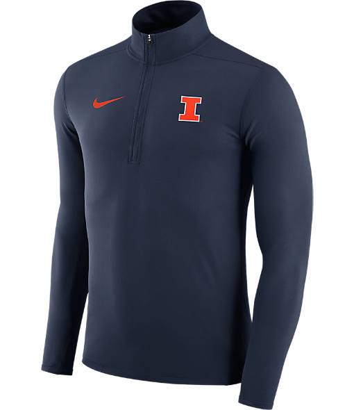 Men's Nike Illinois Fighting Illini College Element Half-Zip Shirt