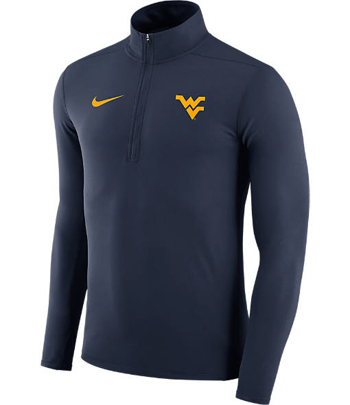 Men's Nike West Virginia Mountaineers College Element Half-Zip Shirt