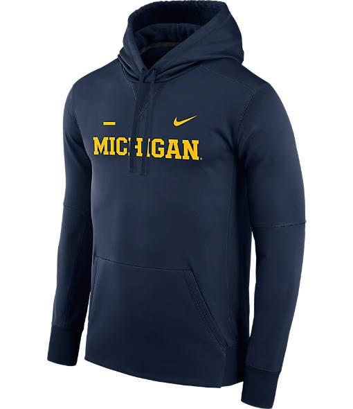 Men's Nike Michigan Wolverines College Therma Hoodie