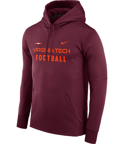 Men's Nike Virginia Tech Hokies College Therma Hoodie
