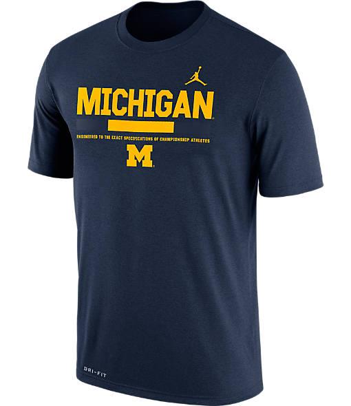 Men's Air Jordan Michigan Wolverines College Legend Staff T-Shirt