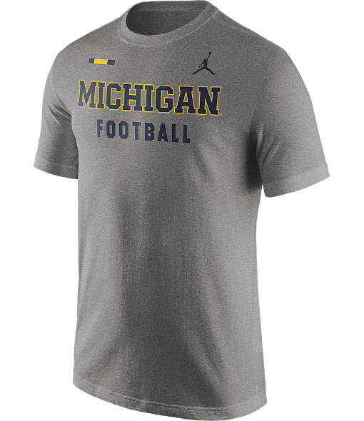 Men's Air Jordan Michigan Wolverines College Facility T-Shirt