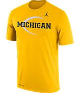 Men's Air Jordan Michigan Wolverines College Legend Icon T-Shirt
