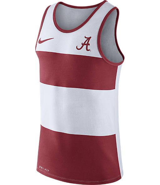 Men's Nike Alabama Crimson Tide College Wide Stripe Tank
