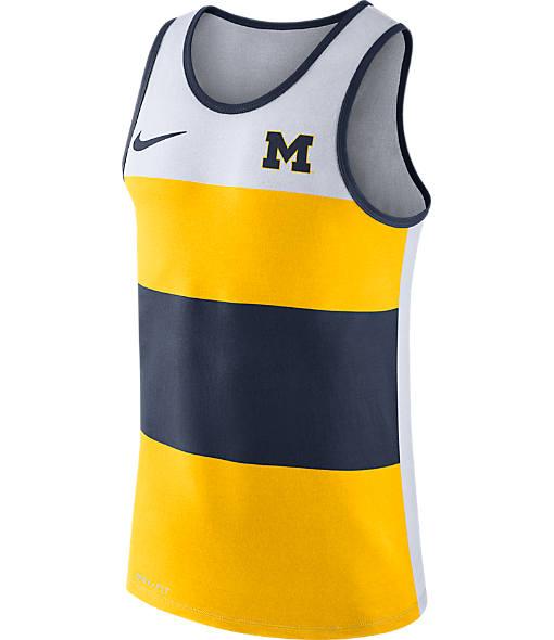 Men's Nike Michigan Wolverines College Wide Stripe Tank