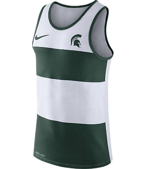 Men's Nike Michigan State Spartans College Wide Stripe Tank