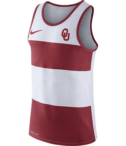 Men's Nike Oklahoma Sooners College Wide Stripe Tank