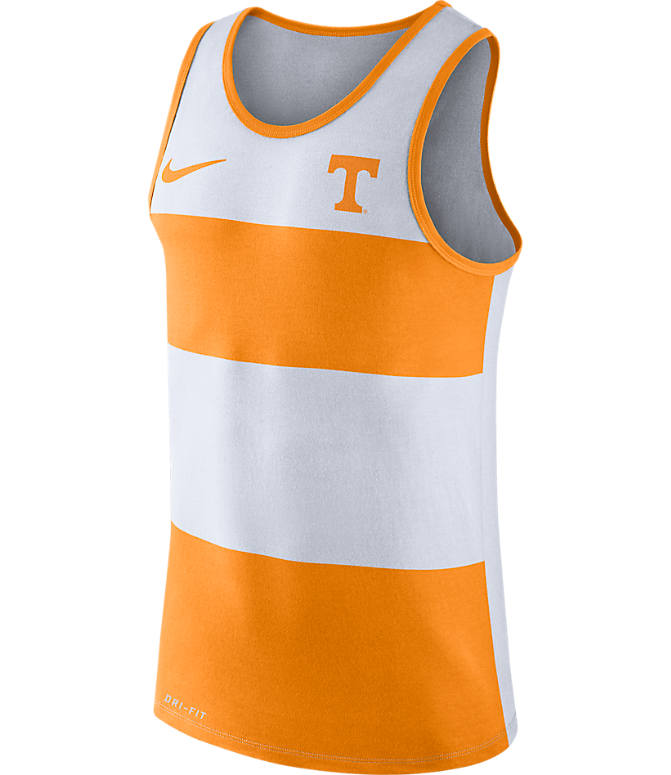 Front view of Men's Nike Tennessee Volunteers College Wide Stripe Tank in Team Colors