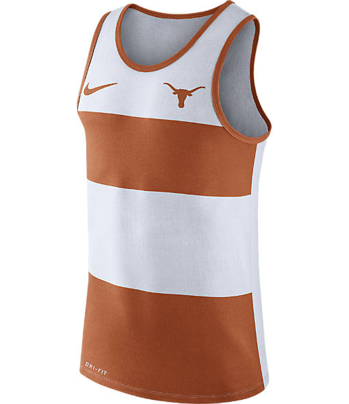 Men's Nike Texas Longhorns College Wide Stripe Tank