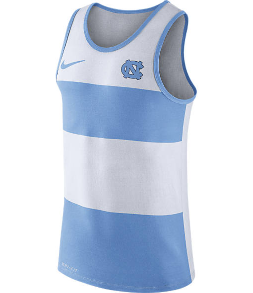 Men's Nike UNC Tar Heels College Wide Stripe Tank