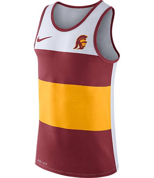 Men's Nike USC Trojans College Wide Stripe Tank