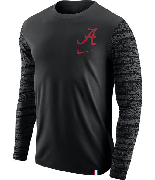 Men's Nike Alabama Crimson Tide College Enzyme Pattern Long-Sleeve Shirt