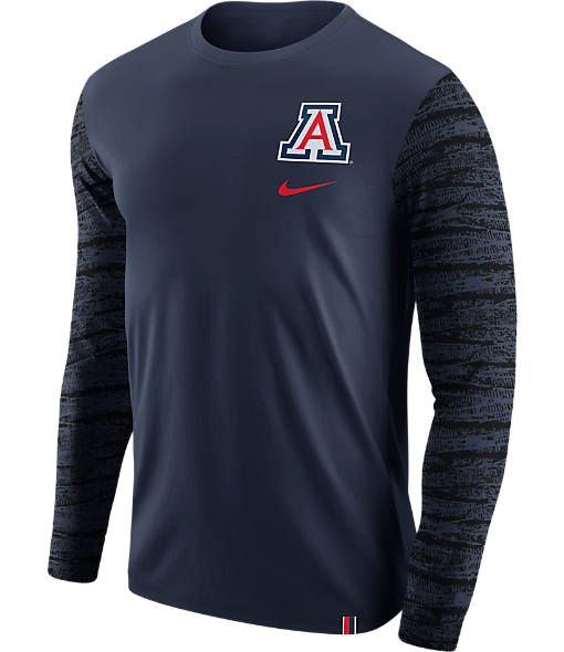 Men's Nike Arizona Wildcats College Enzyme Pattern Long-Sleeve Shirt