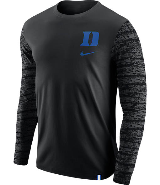Men's Nike Duke Blue Devils College Enzyme Pattern Long-Sleeve Shirt