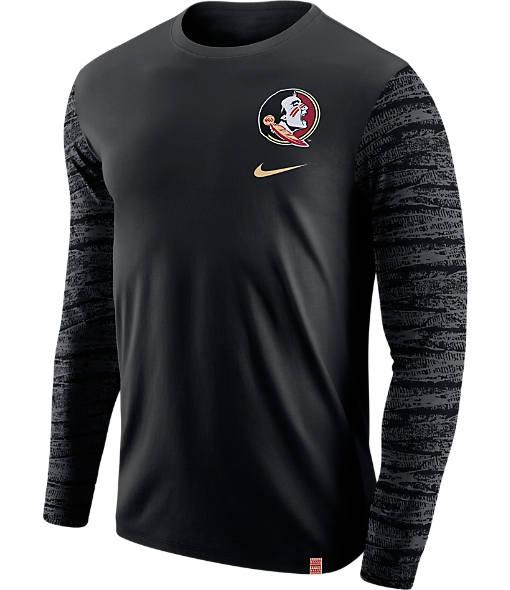 Men's Nike Florida State Seminoles College Enzyme Pattern Long-Sleeve Shirt