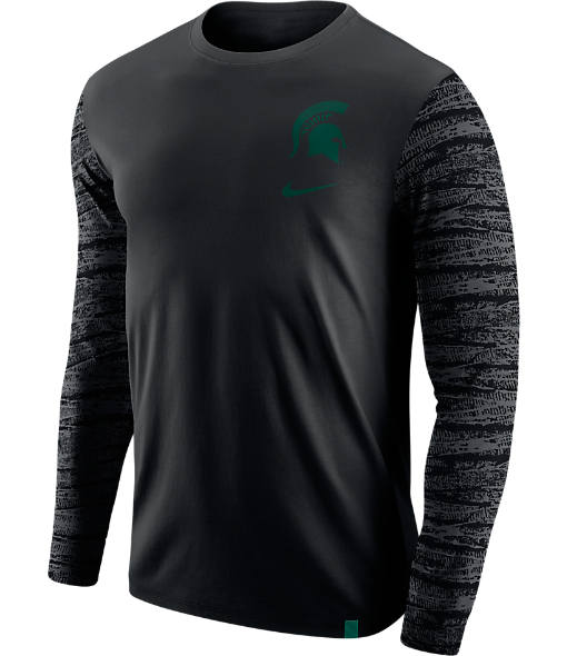Men's Nike Michigan State Wolverines College Enzyme Pattern Long-Sleeve Shirt