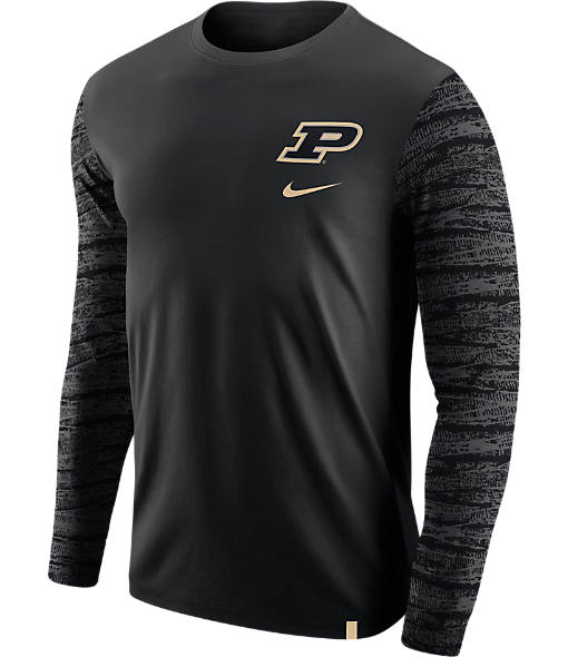 Men's Nike Purdue Boilermakers College Enzyme Pattern Long-Sleeve Shirt