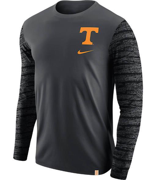 Men's Nike Tennessee Volunteers College Enzyme Pattern Long-Sleeve Shirt