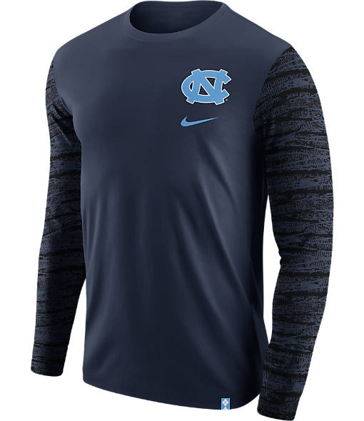 Men's Nike UNC Tar Heels College Enzyme Pattern Long-Sleeve Shirt