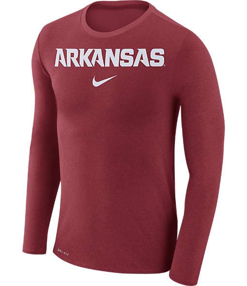 Men's Nike Arkansas Razorbacks College Long-Sleeve Marled T-Shirt