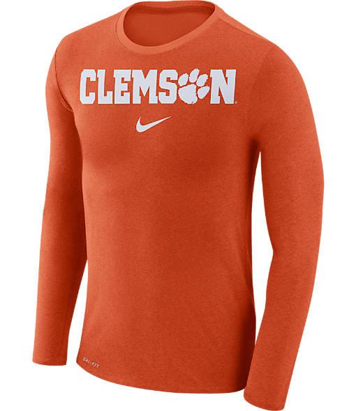 Men's Nike Clemson Tigers College Long-Sleeve Marled T-Shirt