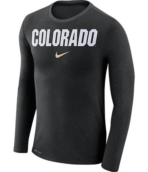 Men's Nike Colorado Buffaloes College Long-Sleeve Marled T-Shirt