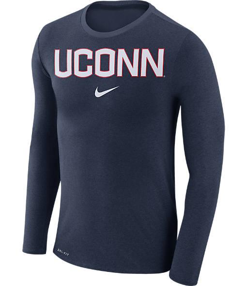 Men's Nike UCONN Huskies College Long-Sleeve Marled T-Shirt