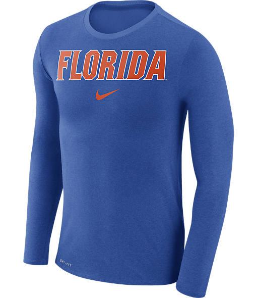 Men's Nike Florida Gators College Long-Sleeve Marled T-Shirt