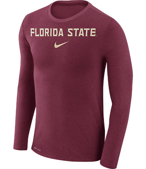 Men's Nike Florida State Seminoles College Long-Sleeve Marled T-Shirt