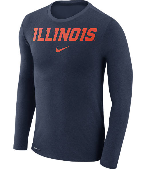 Men's Nike Illinois Fighting Illini College Long-Sleeve Marled T-Shirt