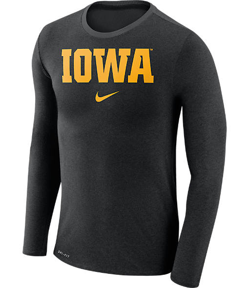 Men's Nike Iowa Hawkeyes College Long-Sleeve Marled T-Shirt