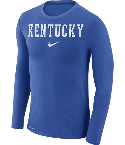 Men's Nike Kentucky Wildcats College Long-Sleeve Marled T-Shirt