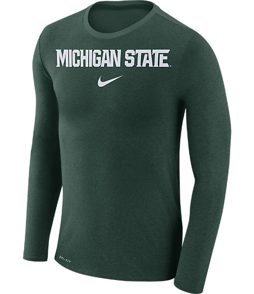 Men's Nike Michigan State Spartans College Long-Sleeve Marled T-Shirt