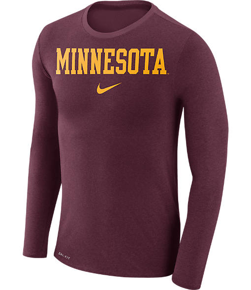 Men's Nike Minnesota Golden Gophers College Long-Sleeve Marled T-Shirt