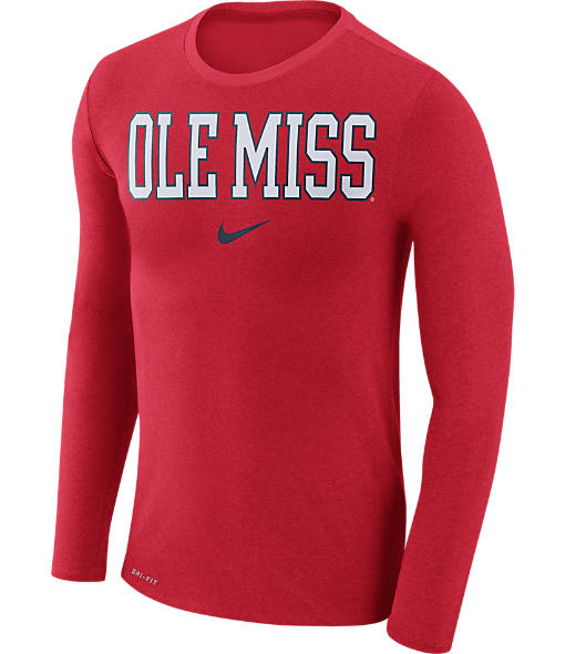 Men's Nike Mississippi Rebels College Long-Sleeve Marled T-Shirt