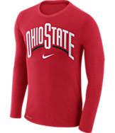 Men's Nike Ohio State Buckeyes College Long-Sleeve Marled T-Shirt